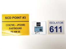 Left to right: Yellow reflective sticker and 3M sticker (Inkjet Printing)