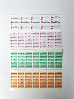 Woodfree sticker (Label printing)